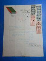 RARE 1913 CANADA ALBERTA LAW REVENUES USED ON LETTERHEAD RECEIPT        CS31084C