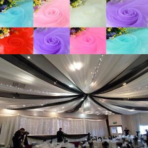 10M Wedding Backdrop Gauze Curtain Organza Fabric Wedding Party Decorative DIY
