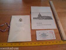 1953 US Presidential Inauguration program & ticket Dwight D Eisenhower R Nixon