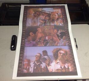 SALE NEW 36x22 The BIG LEBOWSKI canvas wall art Poster film movie bowling