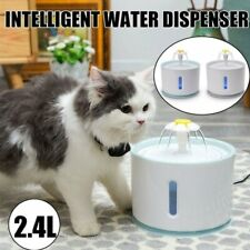 New ListingAutomatic Electric Pet Cat Dog Water Fountain Drinking Bowl Dish Dispenser 2.4 L
