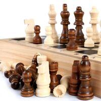 32Pcs Wooden Chess Pieces Big Size Wooden Complete Chessmen Set Entertainment