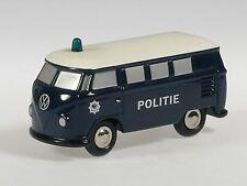 """Schuco Piccolo VW T1 Bus Polizei Niederlande """"Politie"""" # 50131500"""