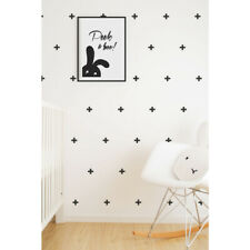 Kids Black Crosses Vinyl Wall Stickers