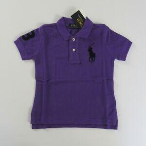 NWT Ralph Lauren Boys S/S Big Pony Solid Mesh Polo Shirt 8 10/12 14/16 18/20 NEW