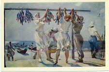 """1980 DEYNEKA """"By the Sea"""", 1957 Women -Fish Kolkhoz Workers  Russian postcard"""