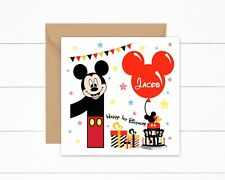 Personalised 1st Birthday Card Boys Mickey Mouse 1 today Son Nephew Grandson