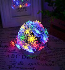 50x MULTI-COLOURED LED FLOWER PETAL GARDEN INDOOR OUTDOOR FAIRY STRING LIGHTS