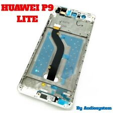 GLS DISPLAY+ TOUCH SCREEN +COVER PER HUAWEI P9 LITE BIANCO FRAME NUOVO RICAMBIO