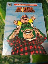 Vintage Walt Disney Dinosaurs Tv Coloring Book Tv Show Sinclair 1992 Golden