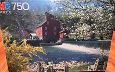 VINTAGE MILTON BRADLEY OXFORD PUZZLE Clinton Mill, NJ 750 PCS Spring