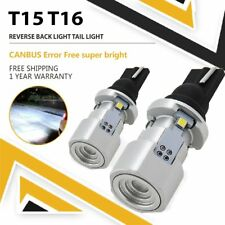2x T15 W16W 921 912 LED Xenon White No Error Canbus Backup Reverse Light Bulb