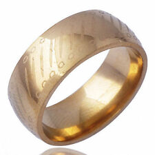 Vintage Designe Unisex Band mens Ring jewelry Yellow Gold Plate Size 10