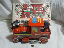 Csengos Mozdony Vintage Hungarian Tin Train Locomotive Toy In box - Works Great