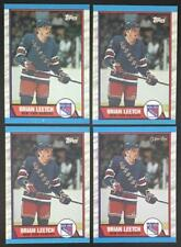 (HCW) 1989-90 Topps NHL Hockey Brian Leetch Rookie RC Card Lot of 4