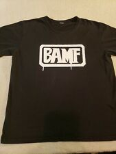 Black BAMF Tshirt Large Punk Rock Military