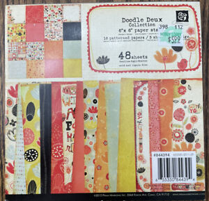 "Prima ""Doodle Deux"" 6""x6"" Scrapbook Paper Pad"