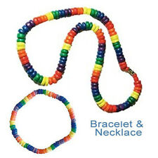 Pride Shack - Lesbian Gay Pride Color Rainbow Puka Bead Necklace Bracelet LGBT