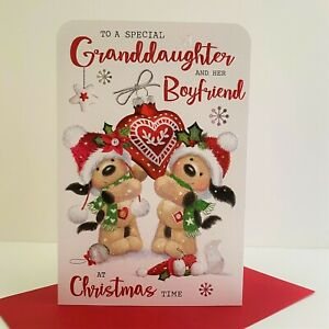 Jonny Javelin Special Granddaughter And Her Boyfriend Christmas Card Dogs /XV010