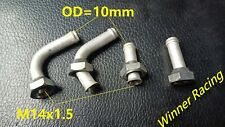 2 Sets Aluminum Radiator Oil Cooler Adaptor/Connector 10mm OD M14x1.5 Thread