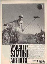 Original Suzuki Motorcycle Magazine Ad - Watch It