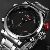 30M Waterproof Mens Watch Army Sport Stainless Steel Analog Quartz Wrist Watches