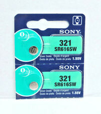 2x SONY 321, SR616SW Alkaline Battery MADE IN JAPAN EXPIRY 06/2020 or later MELB