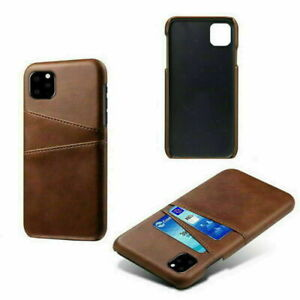 For iPhone 11 Pro Max Ultra Slim Leather Case Cover With Card Slot Holder