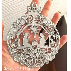 Nativity Xmas Ornament Metal Cutting Dies Scrapbooking Steel Craft Die Cutter