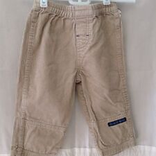 Disney Baby boys cords pants 18 mo khaki long pants elastic waist beige solid