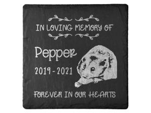 Personalised Pet Memorial Plaque For Pet Hamster Grave Stone Slate Marker Gift
