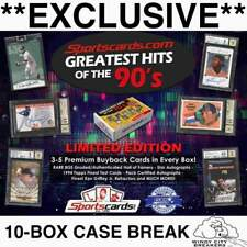 ATLANTA BRAVES 2019 GREATEST HITS OF THE 90'S BASEBALL 10-BOX CASE BREAK