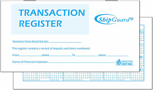 ShipGuard 12 Check registers for Personal Checkbook Ledger Transaction Registers