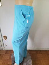 NWT Scrub Pants 4XL Polyester Urbane Performance Aqua Blue