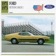 1971-1973 FORD MUSTANG MACH 1 Sports Classic Car Photo/Info Maxi Card