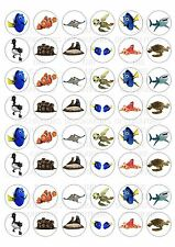 48 Finding Dory Nemo Wafer / Rice MINI Cupcake Topper Edible Fairy Cake Toppers