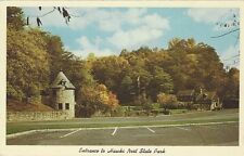 1950's/60's postcard - Entrance to Hawks Nest State Park, West Virginia