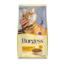 2 x 10kg Burgess Chicken & Duck / salmon Adult Cat Food 10kg only £24.75 each!!!