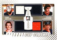 10-11 decades 80s clashes 83-84 fuhr-messier-gillies-lafontaine silver jersey
