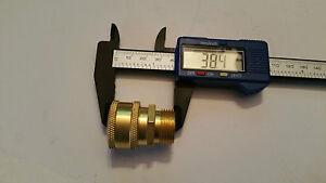 JET PRESSURE WASH QUICK RELEASE MALE 22mm x 14mm Brass