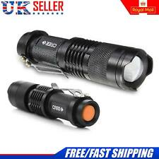 Latest LED Flashlight Aluminium Mini Torch 3500 LM Lumens Zoomable Flashlight UK