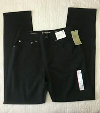 New Mens Straight Fit Black Jeans With Stretch Choose Size