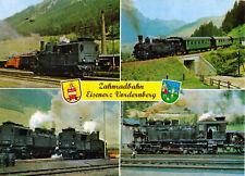 AK, Eisenerz Stmk., Zahnradbahn Eisenerz - Vordernberg, vier Abb., um 1990