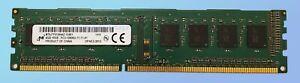 4GB DDR3 1600MHz Desktop PC RAM Micron ~ PC3-12800U Memory 240 pin 1Rx8 DIMM VAT