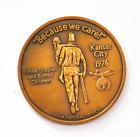 1976 Kansas City Shriner Medal Because We Care Proclaim Liberty 38mm