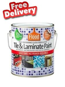 FLOOD Tile and Laminate paint Gloss Light Base 1L No Primer Required