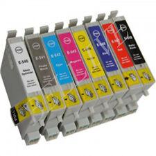 KIT 8 Cartucce Compatibile per EPSON Stylus Photo R800  Stylus Photo R1800 BL