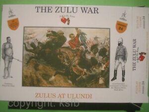 1:32 Figuren Call to Arms #24 Kolonialkrieg Zulu Krieger at Ulundi Afrika