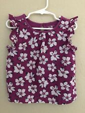 Baby Gap Toddler Girls 3T Hibiscus Floral Print Top