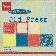 "Marianne design papier bloc-old press 32 feuilles - 6"" x 6"" PK9120 *"